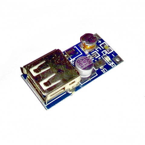 1V-5V boost-up usb power module