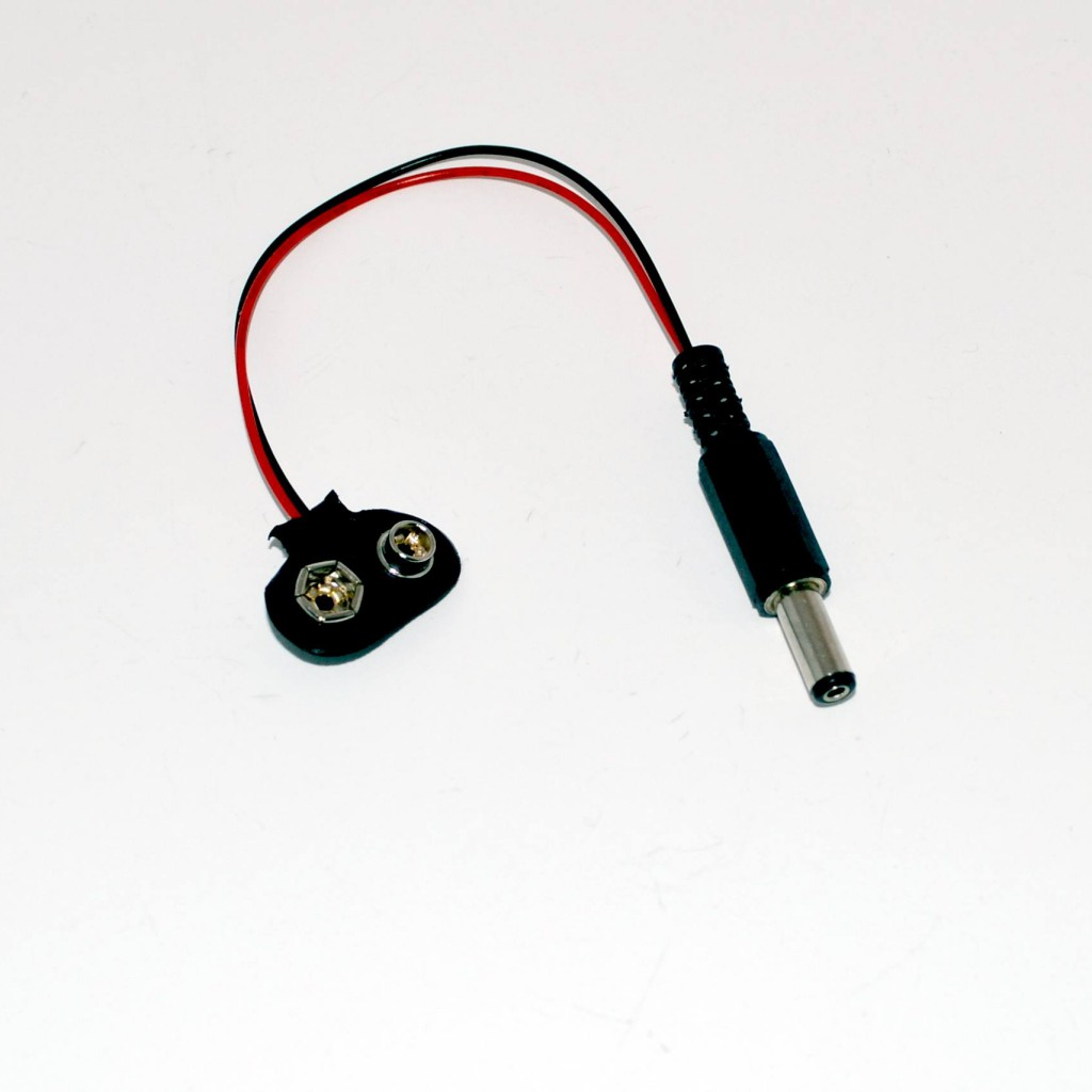 9V PP3 battery and arduino connector, 5.5x2.1mm, barrel jack