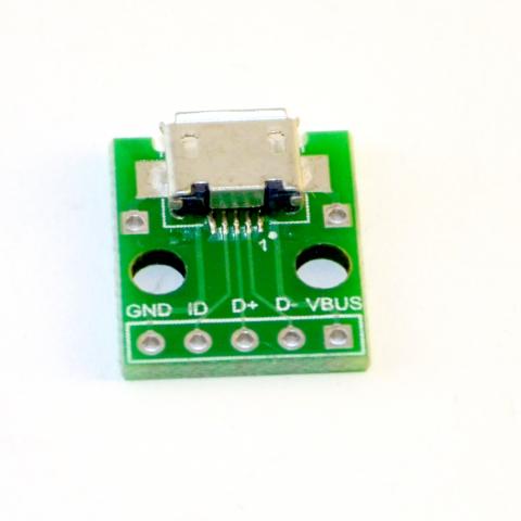 micro usb type B breakout board
