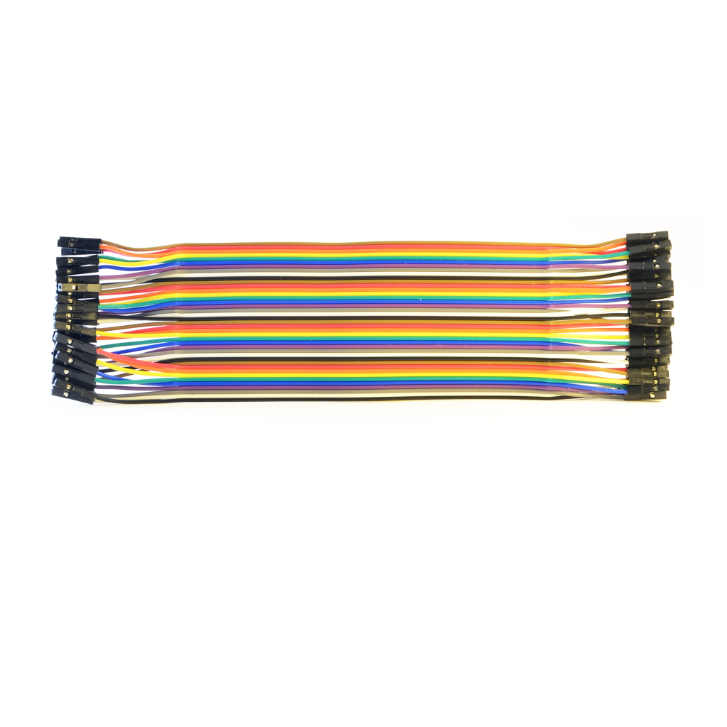 40pin female-female colored dupont wires