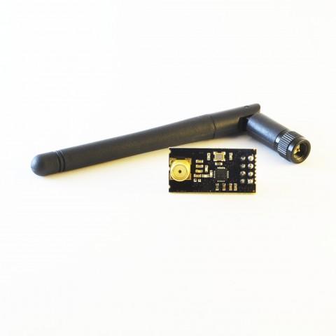 NRF24L01+ ja SMA ühendusega antenn