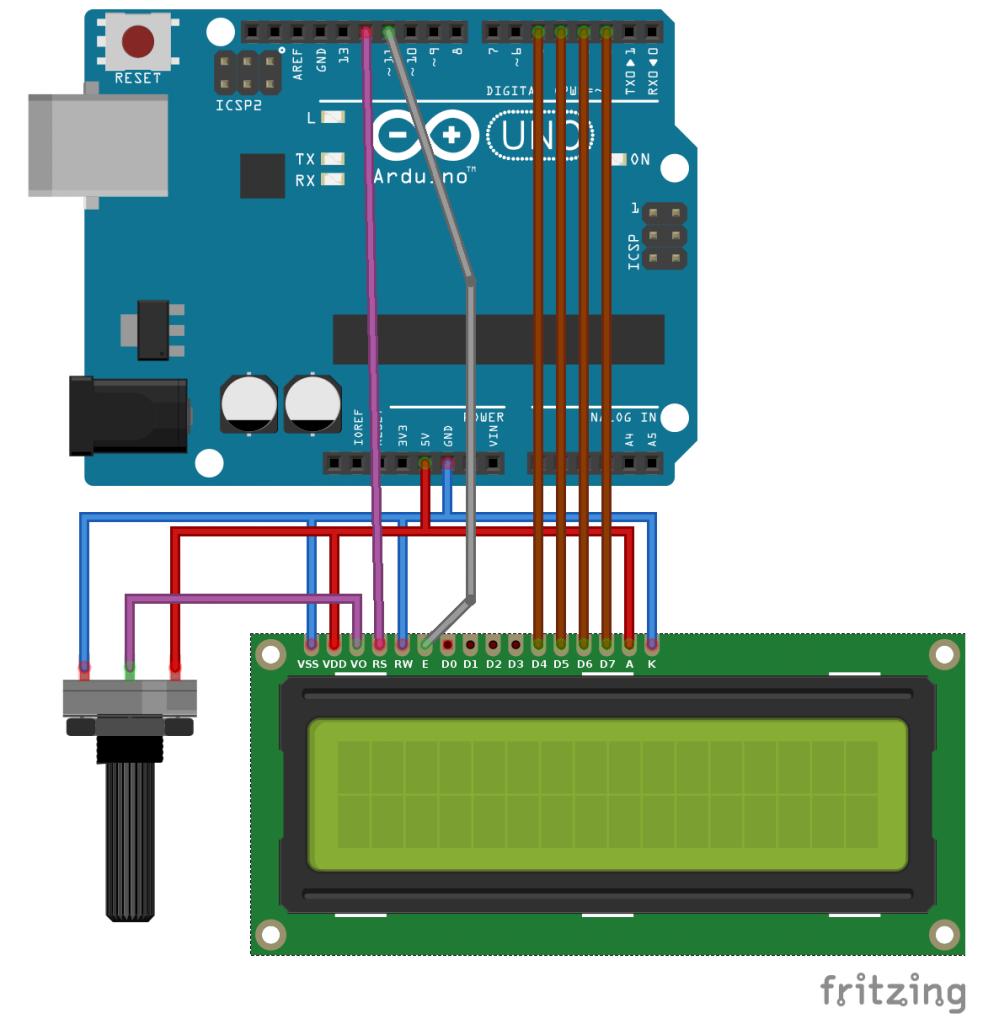 16x2 LCD ühendamine Arduino UNOga