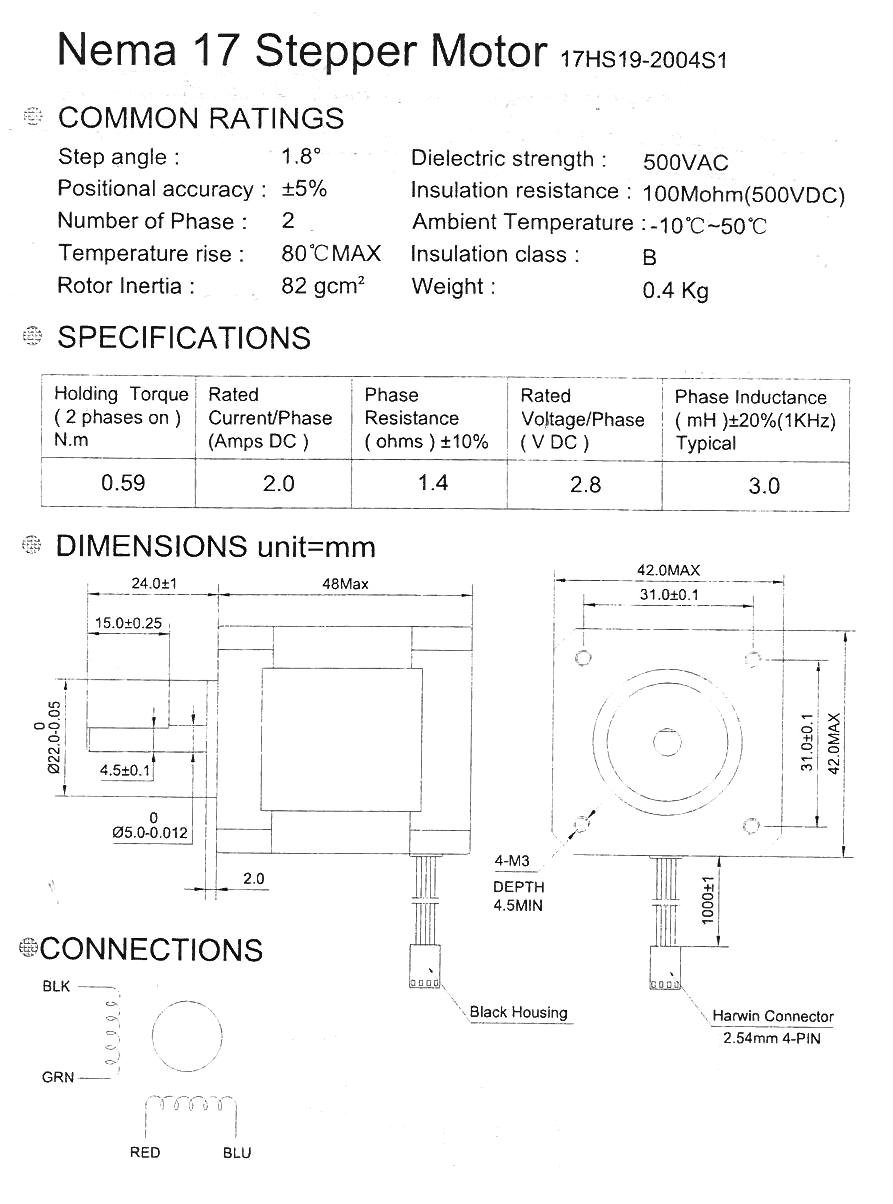 nema17 sammmootor OSM 17HS19 2004S1 datasheet sammmootor 17hs19 2004s1, 2 0a isetegija ee  at fashall.co