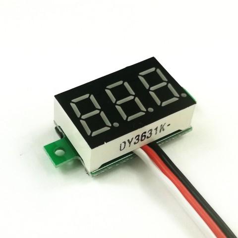 Digitaalne voltmeeter 0-100V, 3 juhtmega