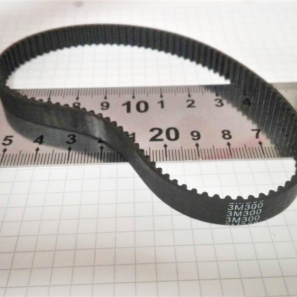 HTD3M hammasrihm ümbermõõduga 300mm, 100 hammast. 9mm laiune